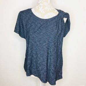 Anthropologie Deletta Single Tie Sleeve Top SM 608